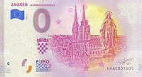 BILLET 0  EURO  ZAGREB CRATIE  2019  NUMERO DIVERS