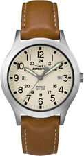 Timex TW4B11000 Expedition Indiglo Mid-Size Scout Leather Band Analog Watch