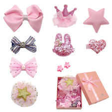 10pcs Pink Dog Hair Bows Pink Girl Female Clips Grooming Accessory Pet Cat Bows