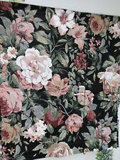 CROSCILL BLOUSON VALANCE BLACK ARBOR ROSE MONTAGUE PINK/RED ROSES NEW