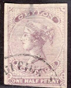 CEYLON 1857/8 STAMP Sc. # 14 USED
