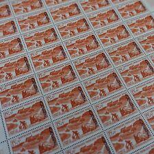 FEUILLE SHEET ALGÉRIE COLONIE FRANCE N°350 x50 JOURNÉE TIMBRE 1958 NEUF ** MNH