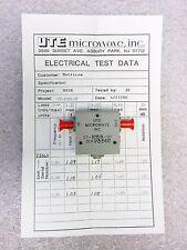 NEW UTE Microwave CT-1059-OT SMA RF Isolator 800-960MHz w/ Data Sheet