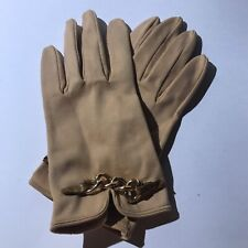 00004000 Rare Color Beige Kay Fuchs Cotton Womens Fashion Gloves Made In Germany Sz7