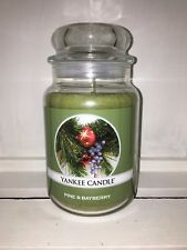 Yankee Candle 22oz 623g Large Jar Pine & Bayberry RARE Deerfield White Label
