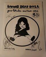 Living Dead Dolls Portfolio Series One 2 / 5 AP Signed By Damien & Ed Long RARE!
