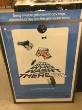 "Guttenburg Steve""The Man Who Wasn't There"" 1983 Original Movie Poster"