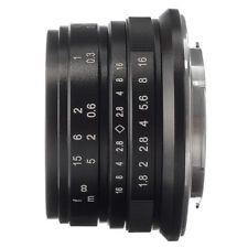 25mm F/1.8 Fixed Lens Manual Focus MF For Sony E-mount A6500 A6300 NEX-7 Camera