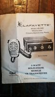 "Lafayette Model HB-555 ""Mobile Ade"" Citizens Band 2-Way CB Radio Owners Manual"