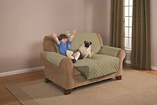 Pegasus Home Fashions Reversible Furniture Protector Love Seat, Olive/Sage