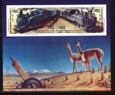 Chile Block 8 Lokomotivenl postfrisch