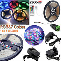 1M-5M 300LED SMD 2835/3528 RGB/White Flexible Strip Light+Remote+Power Supply