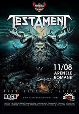 "TESTAMENT ""DARK ROOTS OF EARTH"" 2014 ROMANIA CONCERT TOUR POSTER - Heavy Metal"