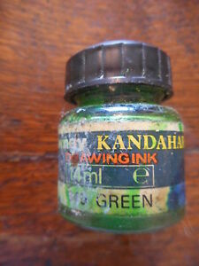 Rowney Kandahar Drawing Indian Ink 14ml Green Permanent