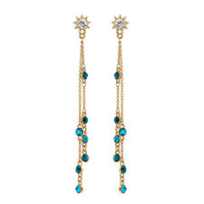 Lovely Fashion Women Accessories Set Auger Long Tassel Stud Earrings 851d6c9154ab