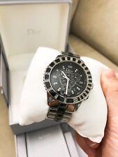 Authentic Dior Christal Stainless Steel Diamond Ladies Watch 38mm women men