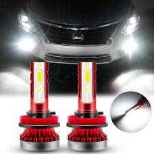 For Nissan Maxima Altima Rogue Sentra Titan LED Fog Light Bulbs White 6000K 2pcs