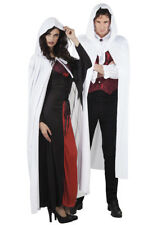 Adult Halloween Long White Hooded Cape