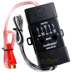 Audiopipe RCA Line Output Converter Power Amp Adapter Hi Low Impedance NR100