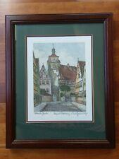 Rothenberg Tauber Signed Ernst Geissendorfer Germany Etching Frame Color Print