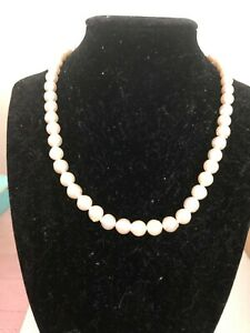 PRE-OWNED WHITE JAPANESE AKOYA SALTWATER PEARL NECKLACE