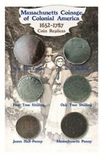 MASSACHUSETTS TOKENS OF COLONIAL AMERICA 1652-1787