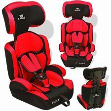 Kidiz® Siège auto enfants siège auto avec extra Coussin 9-36 kg groupe 1+2+3 Rot