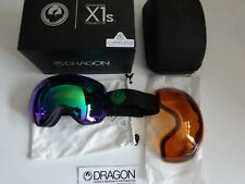 Dragon X1S Split Lumalens Green Ion & Lumalens Amber Snow Goggle NIB New 2017