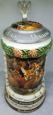 1999 Anheuser-Busch Budweiser Animal Family Stein Wolf Family Lair 2Nd in Series
