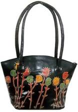 Exclusive Floral Design Ethnic LADIES Shantiniketan Leather Indian Shoulder Bag