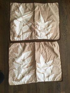 Lot of 2 Pillow Shams Dwell Studio For Target Standard Sz Light Brown Dark Brown