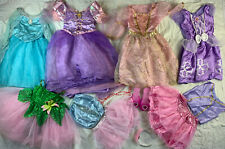 Halloween Disney & Others Princess Dress Up Costume Play Lot sz 4-6X Used