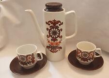 VINTAGE /  RETRO Cassandra HOSTESS  CHINA TEA / COFFEE SET for 2 JOHN RUSSELL