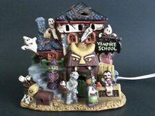 "Halloween Ceramic Haunted House ""Vampire School"" Lights Up"