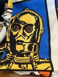 """STAR WARS Curtains, 2 Panels With 2 Tie-Backs, Colorful Original 65""""x 42"""""""