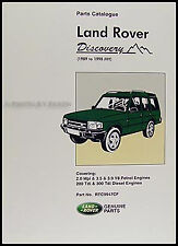 Land Rover Discovery Parts Book Catalog 1990 1991 1992 1993 1994 1995 1996-1998