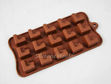 15 cell Geometric Shape Chocolate Candy Silicone Bakeware Mould Cake Wax Melt