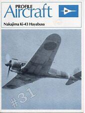 Nakajima Ki-43 Hayabusa Profile Aircraft No. 46 Scale Drawings1982