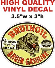 Vintage Style Bruinoil Bruin Oil Gasoline The Bear Of Them All Gas Pump Decal