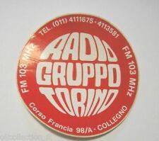 ADESIVO RADIO Vecchio / Sticker / Autocollant_ RADIO GRUPPO TORINO (cm 9,5)