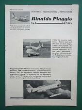4/1966 PUB PIAGGIO P.166 P.166 B PORTOFINO DOUGLAS PD-808 ORIGINAL ADVERT