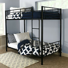 Cool Bunk Beds For Adults Girls Boys Kids Twin Over Twin Ladder Guard Black New