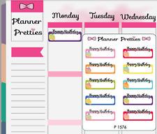 P1576 Birthday Reminder Planner Stickers