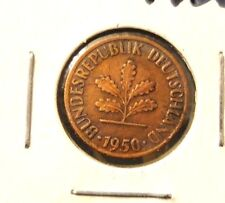 CIRCULATED 1950F 1 PFENNIG WEST GERMAN COIN (50316)!