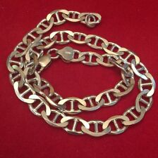 "Sterling Silver 925 - ITALY 7mm Mariner Chain 27.8 Grams - Necklace 14.8"") Mens"