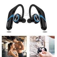 Waterproof True Twins Wireless Bluetooth Headphone Stereo Sport Earbuds Blue