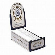 ZIG ZAG Original 24 booklets in a box 1 / 1/2 White Rolling paper Made in France