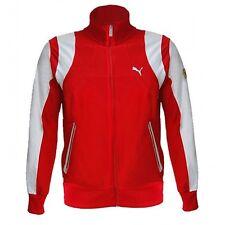 EUC Puma Scuderia Ferrari Men's Track Jacket Full Zip Red White #761105 MEDIUM