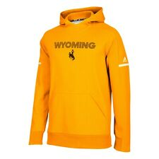 Wyoming Cowboys NCAA Adidas Men's 2018 Sideline Gold Squad Pullover Hoodie