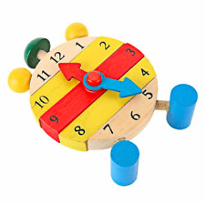 Wooden Educational Toys Children Clock Toy Kids Puzzle Blocks Baby Learn toys